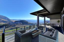 view of bluesky community from backyard patio